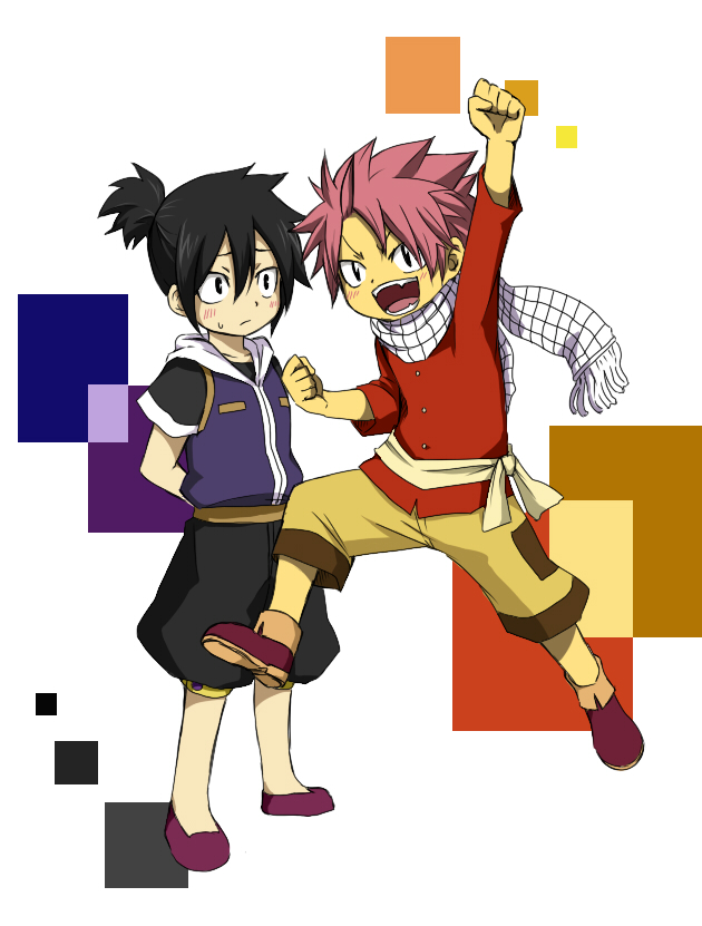 Tags: Anime, Pixiv Id 568347, FAIRY TAIL, Zeref Dragneel, Natsu Dragneel, Yellow Pants, Pixiv