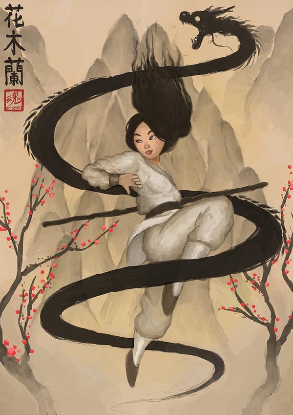 Tags: Anime, Ry-Spirit, Mulan, Mushu, Fa Mulan (Disney), Mobile Wallpaper, deviantART, Fanart, Fanart From DeviantART