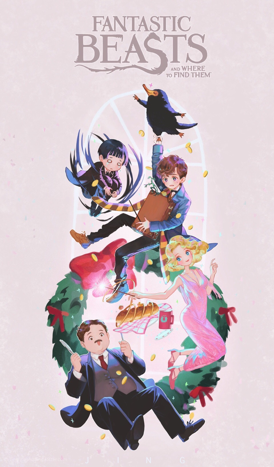 Newton Scamander Fantastic Beasts And Where To Find Them Zerochan Anime Image Board