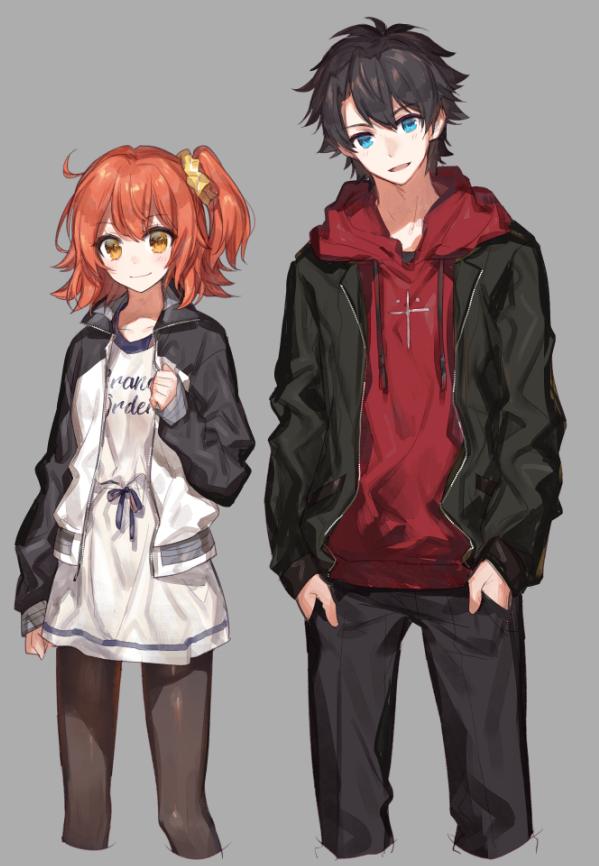 Tags: Anime, Chocoan, Fate/Grand Order, Gudako, Ritsuka Fujimaru, Mobile Wallpaper, PNG Conversion