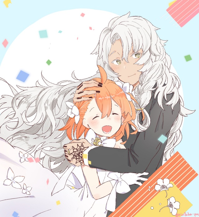 Tags: Anime, Pixiv Id 43414193, Fate/Grand Order, Caster (Solomon), Gudako, Fanart, Fanart From Pixiv, Fate/Grand Order Orchestra, Pixiv