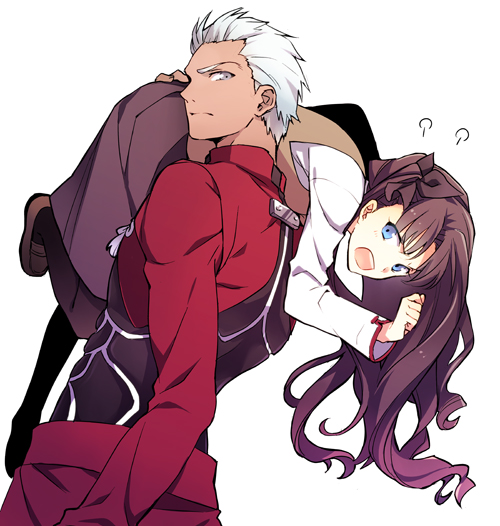Tags: Anime, Pixiv Id 12798993, Fate/stay night, Archer (Fate/stay night), Tohsaka Rin, Pixiv, Fanart, Fanart From Pixiv