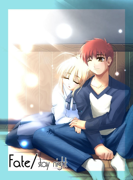 Tags: Anime, TYPE-MOON, Fate/stay night, Emiya Shirou, Saber (Fate/stay night)
