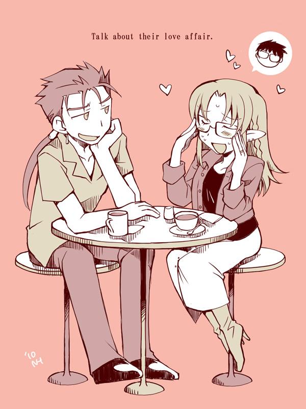 Tags: Anime, Pixiv Id 225199, TYPE-MOON, Fate/stay night, Kuzuki Souichirou, Lancer (Fate/stay night), Caster (Fate/stay night)