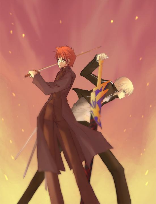 Tags: Anime, TYPE-MOON, Fate/stay night, Gilgamesh, Emiya Shirou, Kotomine Shirou (Doujin)