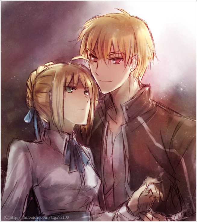 Tags: Anime, Pixiv Id 1371987, TYPE-MOON, Fate/stay night, Gilgamesh, Saber (Fate/stay night)