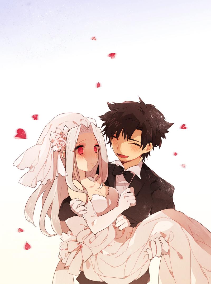 Муж и жена рисунок аниме