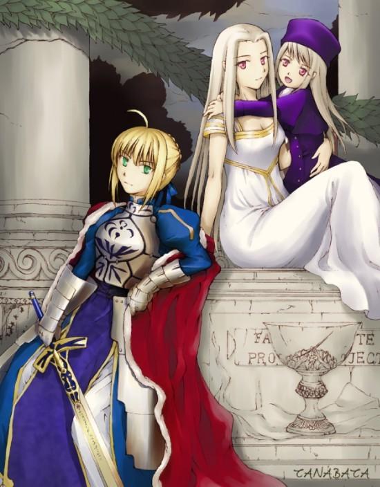 Tags: Anime, Kenwntanabata, TYPE-MOON, Fate/zero, Fate/stay night, Illyasviel von Einzbern, Saber (Fate/stay night), Irisviel von Einzbern, deviantART, Fanart, Fanart From DeviantART