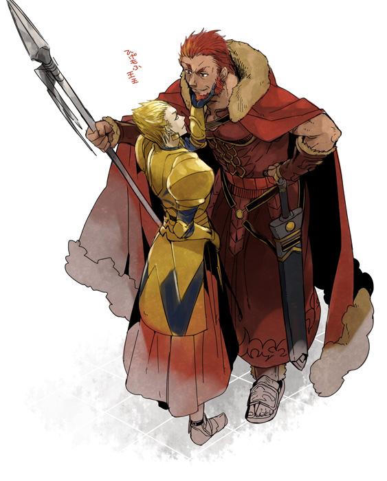 Tags: Anime, Vox, TYPE-MOON, Fate/zero, Gilgamesh, Rider (Fate/zero), King, Fanart, Fanart From Pixiv, Pixiv