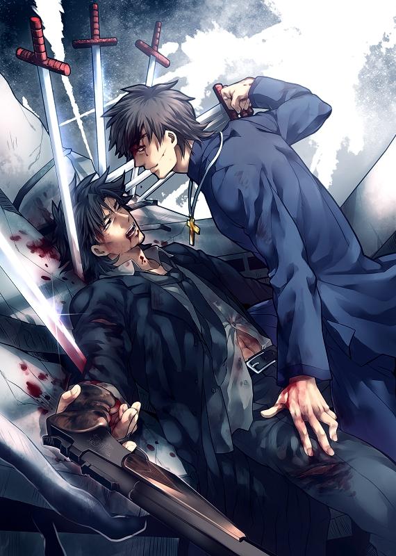 Tags: Anime, zihad, Fate/zero, Kotomine Kirei, Emiya Kiritsugu, Pixiv, Fanart From Pixiv, Fanart