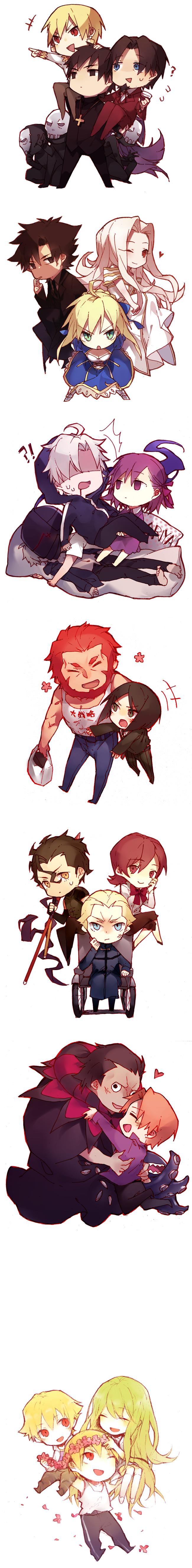 Tags: Anime, Mayer, Fate/strange fake, Fate/zero, Fate/hollow ataraxia, Irisviel von Einzbern, Berserker (Fate/zero), Saber (Fate/stay night), Tohsaka Tokiomi, Uryuu Ryuunosuke, Gilgamesh, Assassin (Fate/zero), Matou Kariya