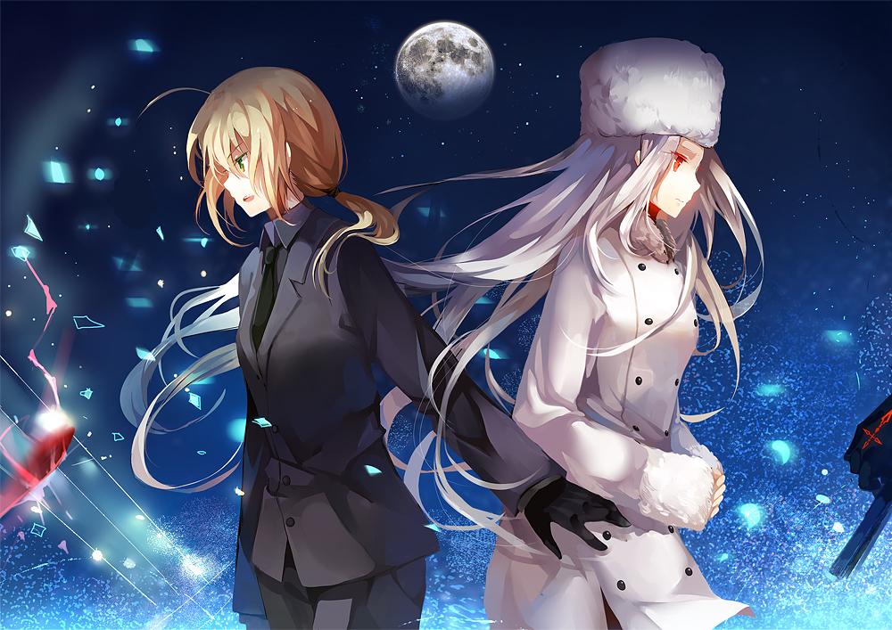 saber fatestay night suit zerochan anime image board