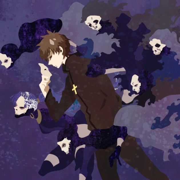 Tags: Anime, Kuroihato, Fate/zero, Assassin (Fate/zero), Kotomine Kirei, Pixiv, PNG Conversion, Fanart