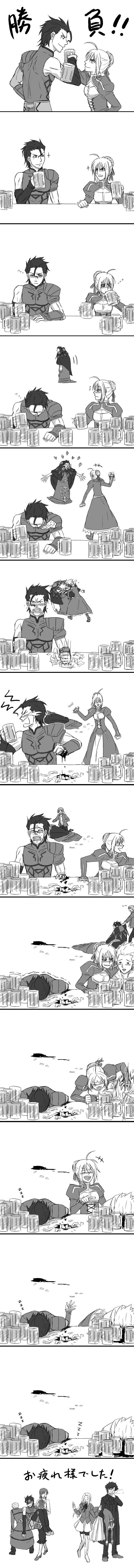 Tags: Anime, Pixiv Id 843854, Fate/zero, Caster (Fate/zero), Gilgamesh, Lancer (Fate/zero), Emiya Kiritsugu, Uryuu Ryuunosuke, Saber (Fate/stay night), Sola-Ui Nuada-Re Sophia-Ri, Kayneth Archibald El-Melloi, Irisviel von Einzbern, Frustrated