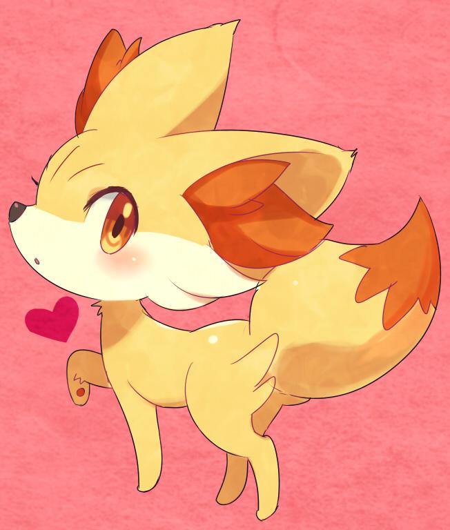 Tags: Anime, Pixiv Id 3706, Pokémon, Fennekin, Fanart, Fanart From Pixiv, Pixiv