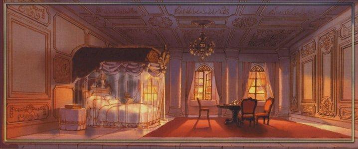 Tags: Anime, Final Fantasy IX, Room, Still Life, Bedroom, Chandelier ...