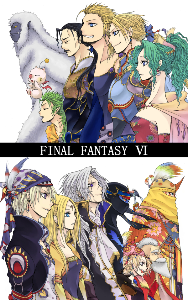 Tags: Anime, Rubyking, Final Fantasy VI, Celes Chere, Interceptor (Ff6), Gau (Final Fantasy VI), Setzer Gabbiani, Tina Branford, Locke Cole, Mash Rene Figaro, Relm Arrowny, Gogo, Edgar Roni Figaro