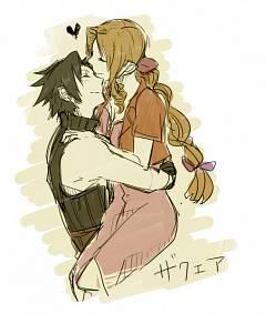 Zack Fair And Aerith Kiss Aerith Gainsbor...
