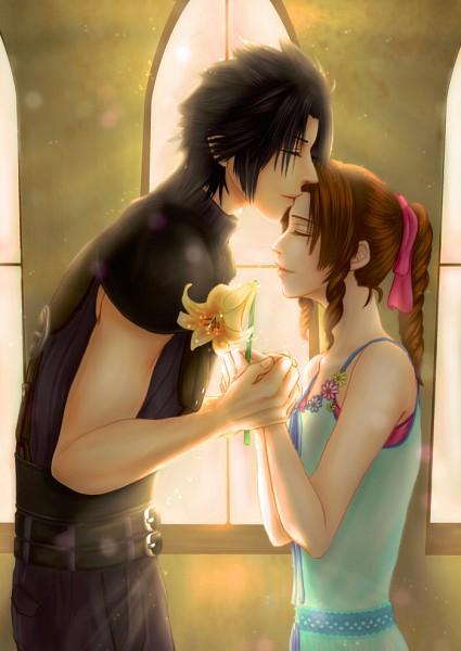 Zack Fair And Aerith Kiss Final Fantasy V...