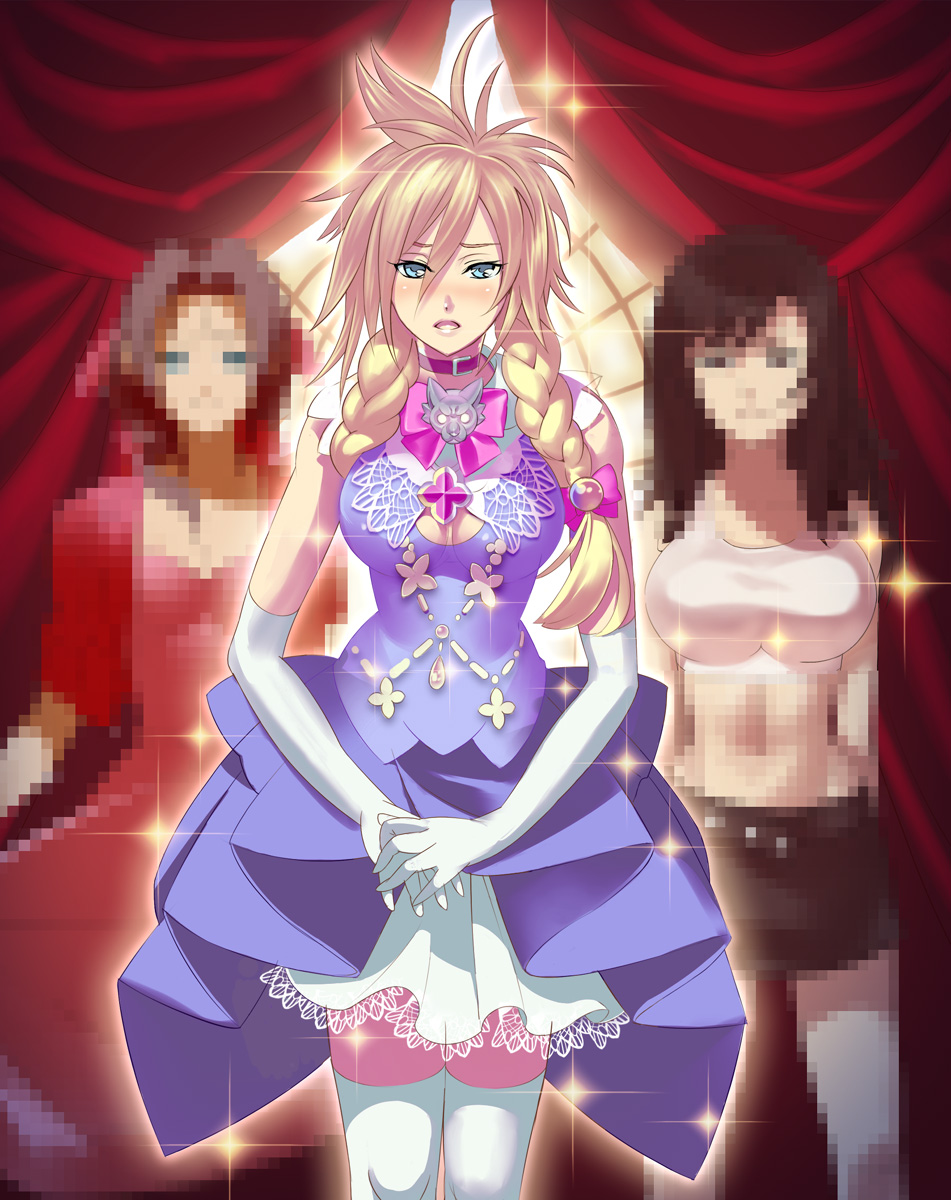 Tags: Anime, Kaiseki, Final Fantasy VII, Aerith Gainsborough, Cloud ...: www.zerochan.net/109481