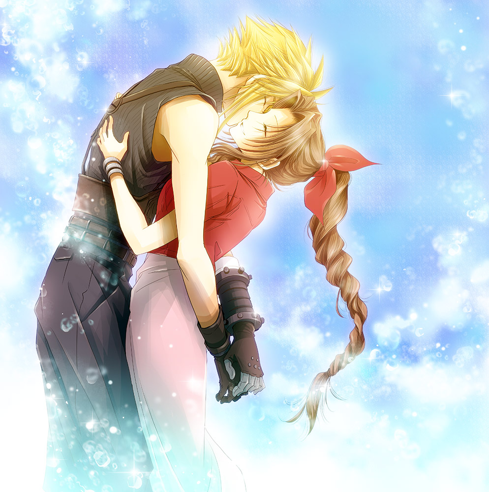 crisis core meet aerith and cloud
