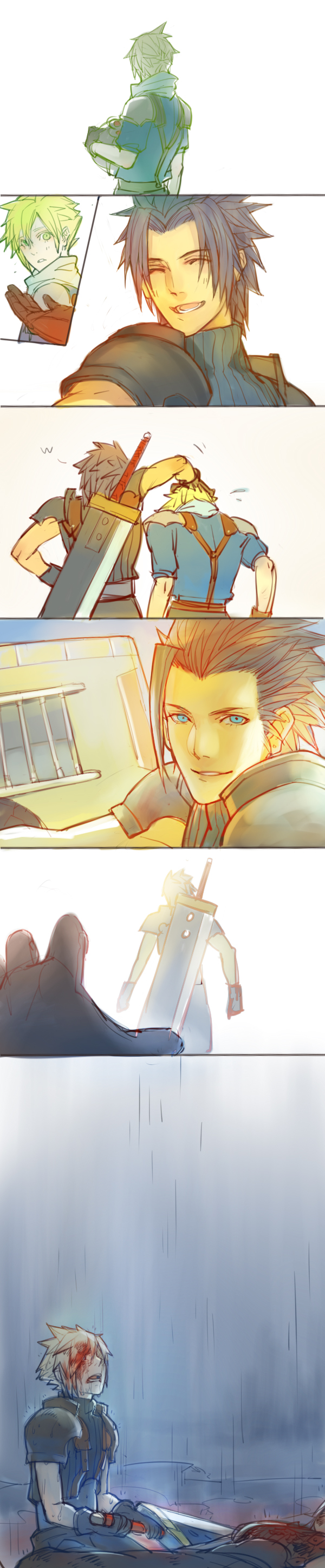 Tags: Anime, .Axis., Final Fantasy VII, Zack Fair, Cloud Strife, Fanart From Pixiv, Fanart, Pixiv