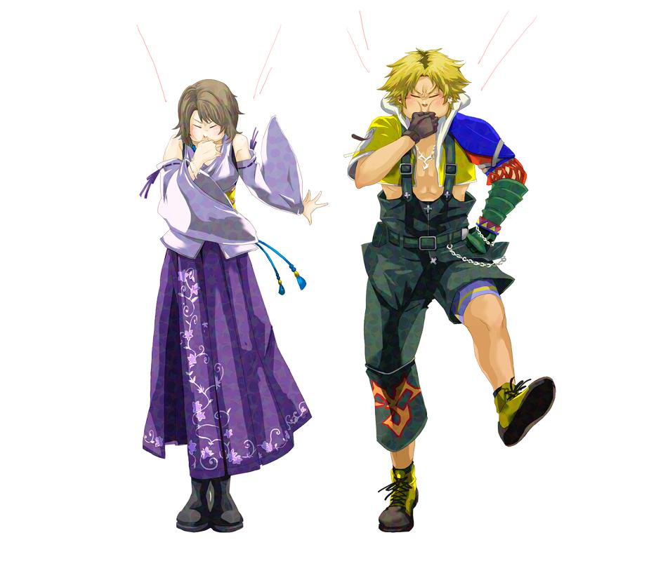 Tags: Anime, Pixiv Id 344626, Final Fantasy X, Tidus, Yuna, Whistle