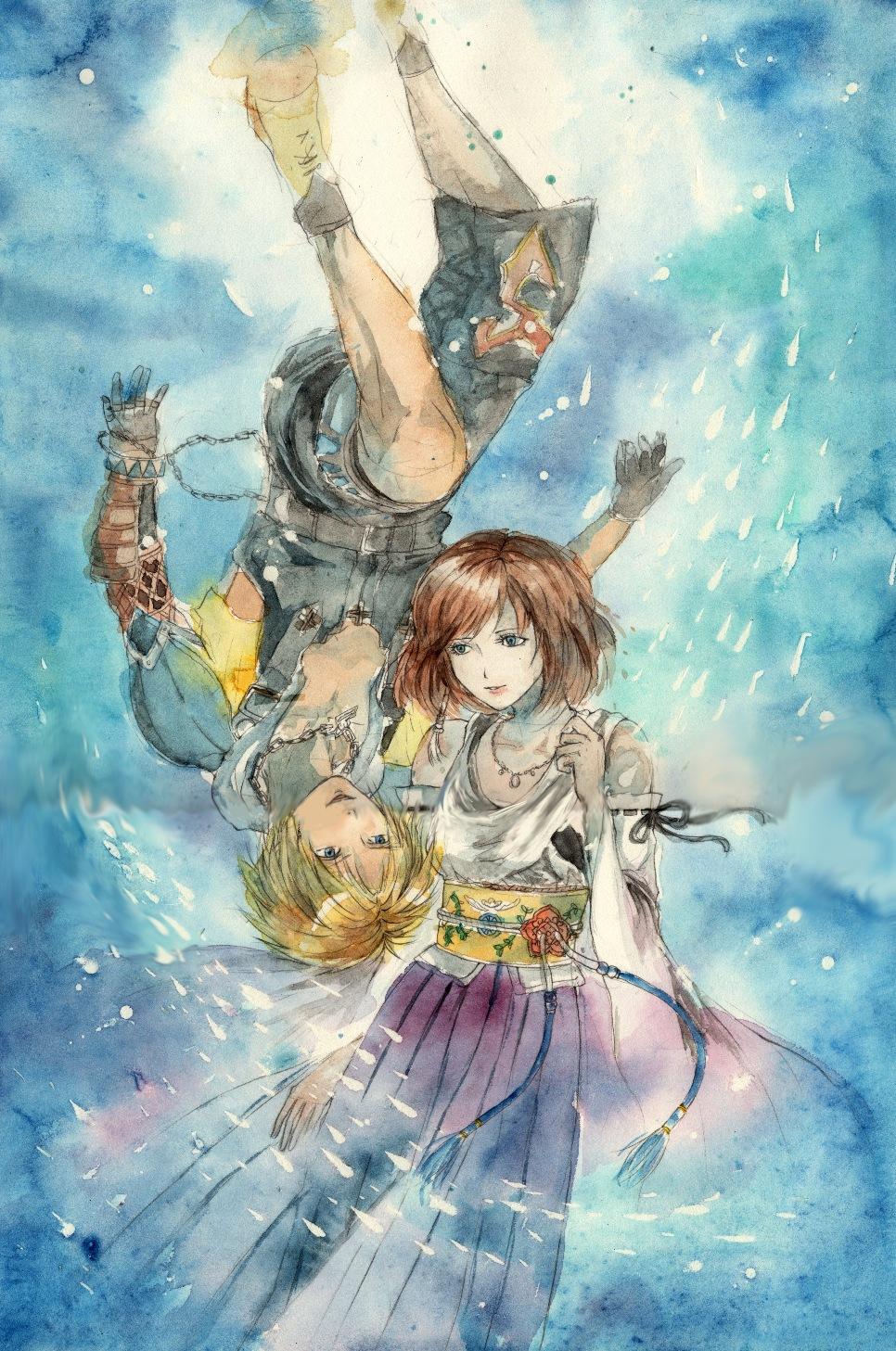 final fantasy yuna and tidus