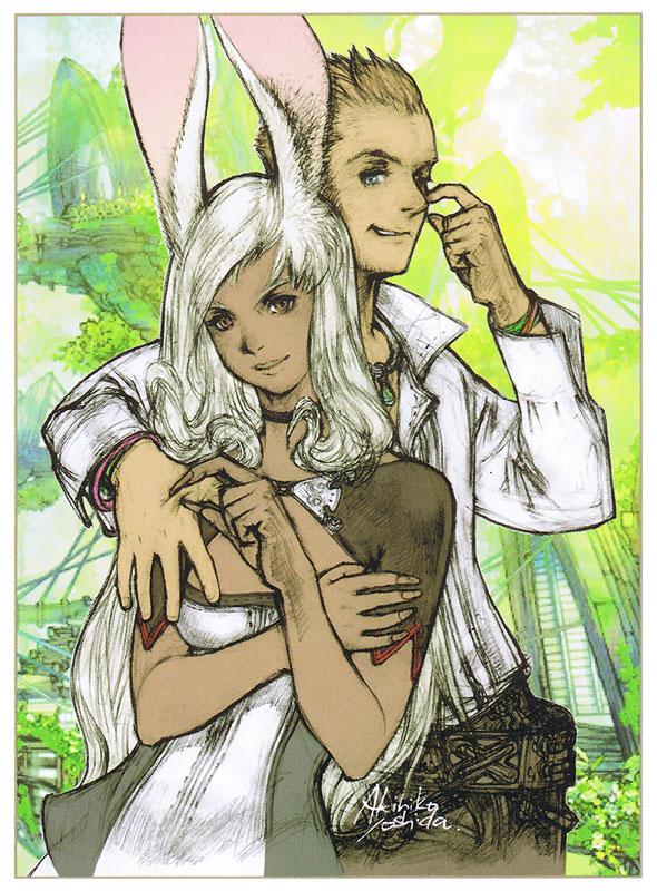 Tags: Anime, SQUARE ENIX, Final Fantasy XII, Viera, Balthier, Fran (FFXII), Official Art