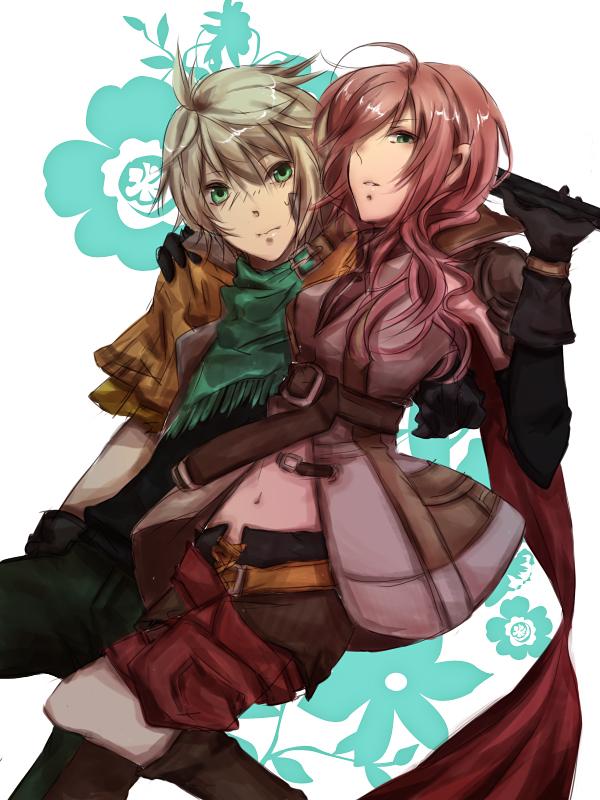 Tags: Anime, Final Fantasy XIII, Lightning Farron, Hope Estheim
