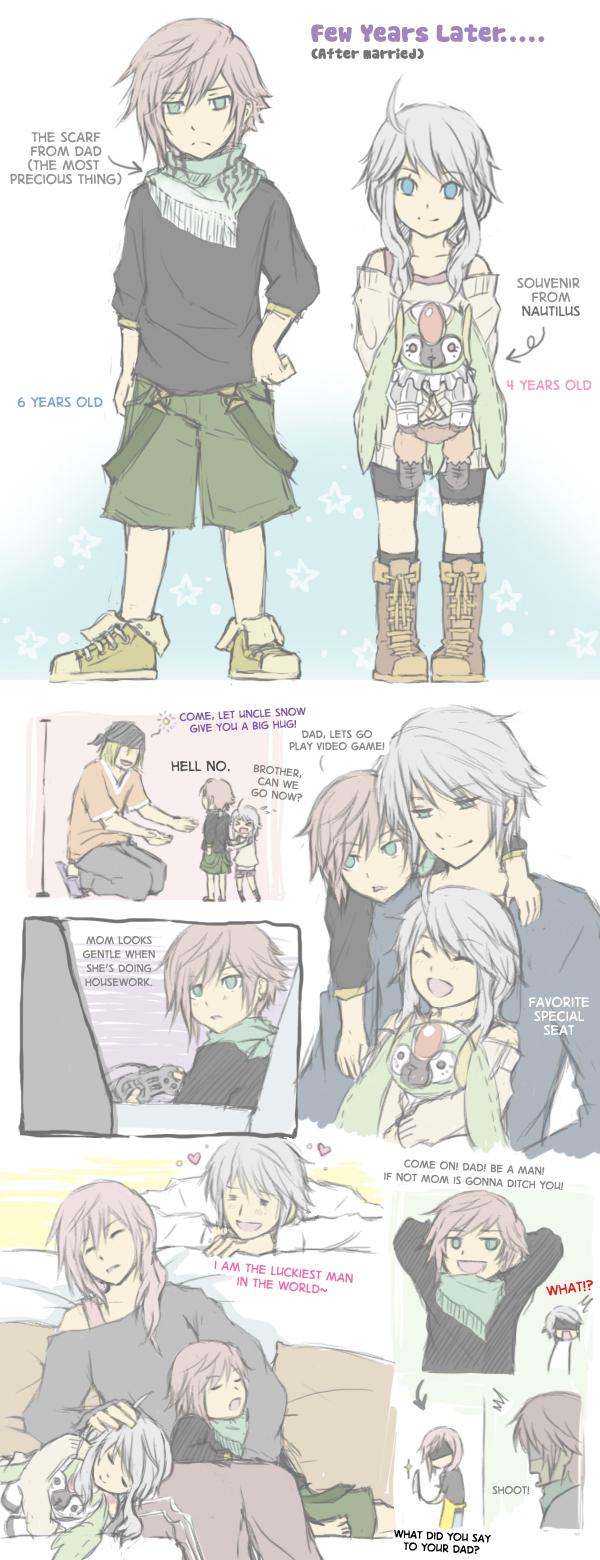 Tags: Anime, Semokan, Final Fantasy XIII, Lightning Farron, Hope Estheim, Snow Villiers, deviantART