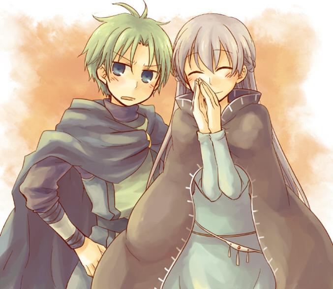 Tags: Anime, Pixiv Id 132264, Fire Emblem: Fuuin no Tsurugi, Sofiya, Lleu (Fire Emblem), Side by Side, Pixiv, Fanart, Fanart From Pixiv, Fire Emblem: Binding Blade