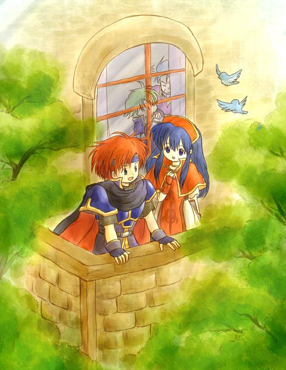 Tags: Anime, Red-50869, Fire Emblem: Fuuin no Tsurugi, Lilina (Fire Emblem), Wolt, Roy (Fire Emblem), Marcus (Fire Emblem), Fire Emblem: Binding Blade