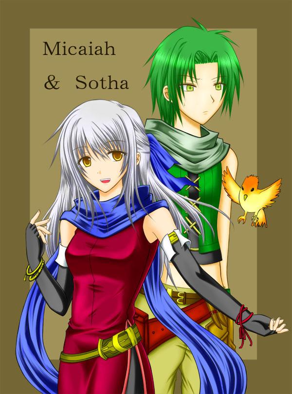 Tags: Anime, Pixiv Id 382750, Fire Emblem: Path of Radiance, Micaiah, Sothe, Yune (Fire Emblem)