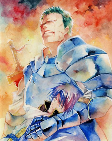 Tags: Anime, Agahari, Fire Emblem: Seisen no Keifu, Arden (Fire Emblem), Siglud (Fire Emblem), Traditional Media