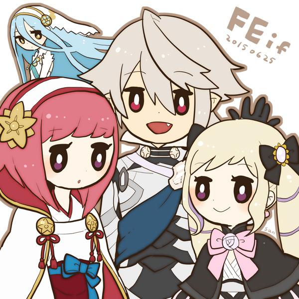Tags: Anime, Pixiv Id 39228, Fire Emblem If, Aqua (Fire Emblem), Kamui (Male) (Fire Emblem), Sakura (Fire Emblem), Elise (Fire Emblem), Fire Emblem Fates