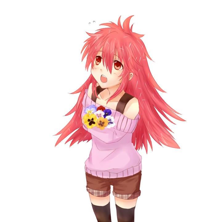 Tags: Anime, Teru, Happy Tree Friends, Flaky, Shoulder-less Shirt