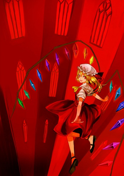 Tags: Anime, Kol49, Touhou, Flandre Scarlet, Unusual Colored Wings, Flying