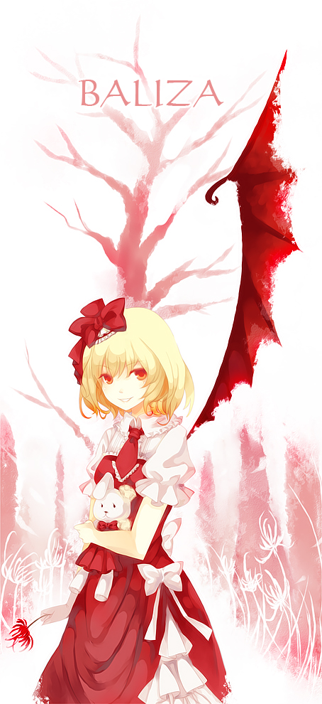 Tags: Anime, Dhiea (Pixiv270545), Neyti, Touhou, Flandre Scarlet, One Wing, Fancy Winged Flandre, Pixiv