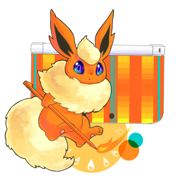 Tags: Anime, Rikovui, Pokémon, Flareon, Nintendo 3DS, Fanart, Fanart From Pixiv, Pixiv