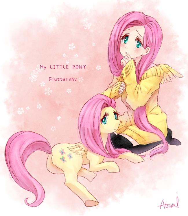 Tags: Anime, Pixiv Id 1151319, My Little Pony, Fluttershy, Cutie Mark, Mark, Pixiv, Fanart From Pixiv, Fanart