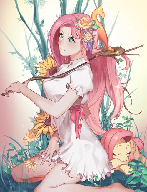 Tags: Anime, Pixiv Id 407542, My Little Pony, Fluttershy, Pixiv, Fanart, Fanart From Pixiv