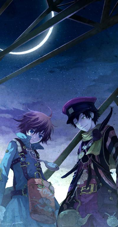 Tags: Anime, Chiya, Namco, Fragile: Sayonara Tsuki no Haikyo, Crow (Fragile), Seto (Fragile), Fanart, Fanart From Pixiv, Pixiv