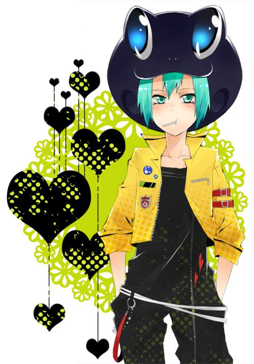 Tags: Anime, Danemaru, Katekyo Hitman REBORN!, Fran, Frog Hat, Fanart, Mobile Wallpaper