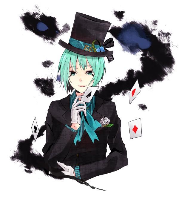 Tags: Anime, Saωneξkichi, Katekyo Hitman REBORN!, Alice in Wonderland, Mad Hatter, Fran, Magician (Entertainer), Joker, Pixiv, Fanart