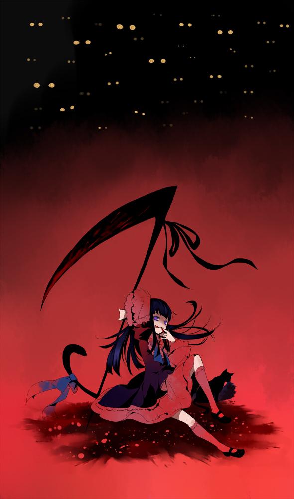 Tags: Anime, Hano, 07th Expansion, Umineko no Naku Koro ni, Frederica Bernkastel, Pixiv, Mobile Wallpaper