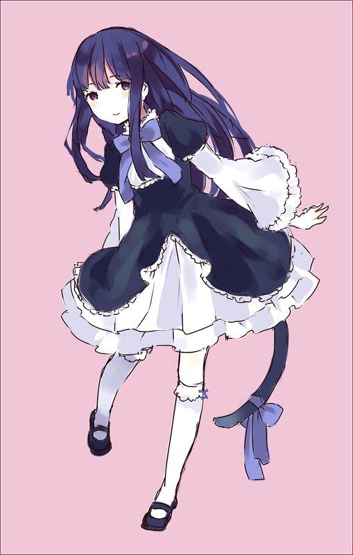 Tags: Anime, Tan (Tangent), 07th Expansion, Umineko no Naku Koro ni, Frederica Bernkastel, Mobile Wallpaper