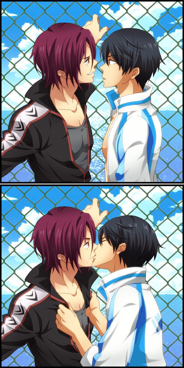 Tags: Anime, Kulali, Free!, Nanase Haruka (Free!), Matsuoka Rin, Comic, RinHaru