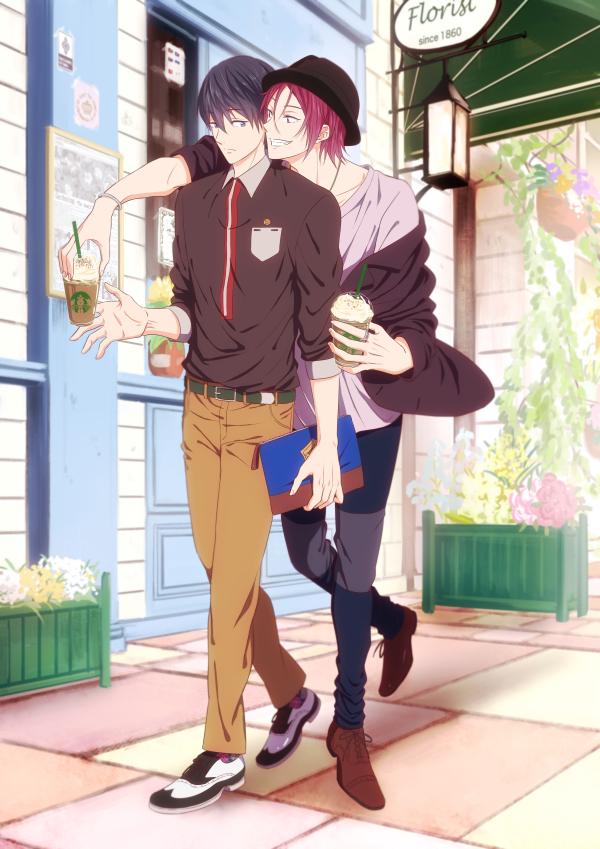 Tags: Anime, Pixiv Id 953567, Free!, Nanase Haruka (Free!), Matsuoka Rin, Mobile Wallpaper, Pixiv, RinHaru