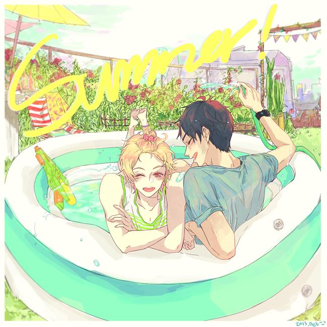 Tags: Anime, Pixiv Id 6234576, Free!, Ryuugazaki Rei, Hazuki Nagisa, Wading Pool, Pixiv, Fanart, Fanart From Pixiv, ReiGisa